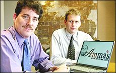 Andrew Robinson (left) and Peter Evans, directors of Experteach and Ammas.com Ltd. Picture / Fotopress